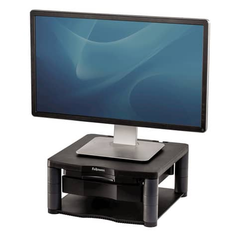 Supporto FELLOWES Premium Plus per monitor plastica riciclata grafite 34,3x33,3x6,4-16,5 cm - 9169501