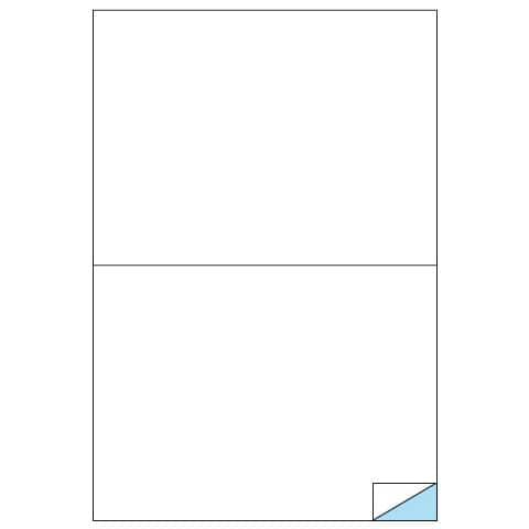 Etichette bianche MARKIN permanenti 210x148,5 mm senza margine conf. da 200 etichette - X210C509