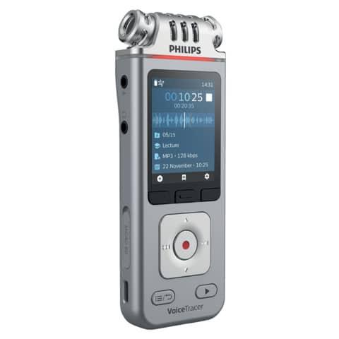 Registratore vocale digitale PHILIPS VoiceTracer  4110 argento DVT4110