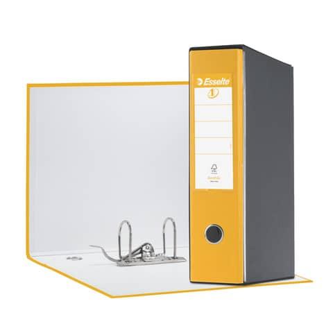 Registratore con custodia Esselte G55 Eurofile protocollo dorso 8 cm cartone rivestito in PP giallo - 390755090 Immagine del prodotto
